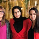 Son Excellence Lolwah El Khater - porte-parole du MAE du Qatar, Naïma Moutchou & Sihem Souid