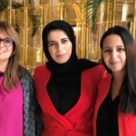 Son Excellence Lulwa El Khater - porte-parole du MAE du Qatar, Naïma Moutchou & Sihem Souid