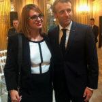 Le Président Emmanuel Macron & Sihem Souid